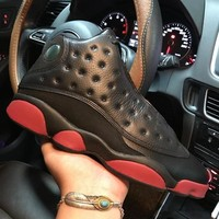 Air Jordan 13 Retro Dirty Bred 414571-033 XIII Black Red Men's Height Increasing Shoes Fashion Shoes Top Quality With Original Box US7-13