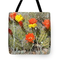 "Cactus Flowers Tote Bag for Sale by Aimee L Maher Photography and Art (18"" x 18"")"