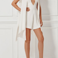 Candie White Playsuit