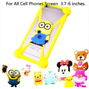 3D Cute Cartoon Minions Stitch Batman totoro hello kitty Soft Silicon Rubber Case Back Cover for Apple iPhone 7
