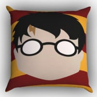 Harry Potter face Minimalist Z1696 Zippered Pillows  Covers 16x16, 18x18, 20x20 Inches