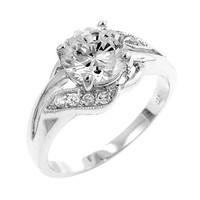 Elegant Engagement Ring Size 10