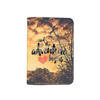 And So Adventure Begins World Travel Passport Holder Customized Passport Covers Passport Wallet_Emerishop (PPLA41)