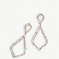 KENDRA SCOTT Alexa 14ct rose-gold and diamond earrings