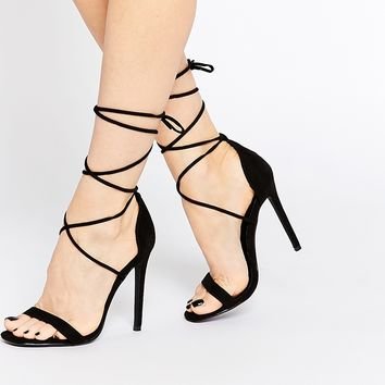Missguided Barely There Heeled Sandal at asos.com