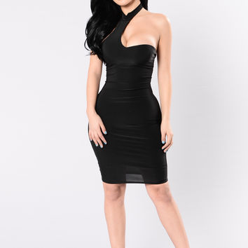Wish I Could Be There Dress - Black