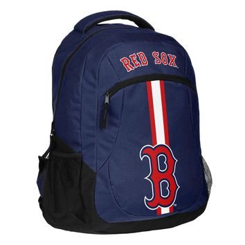 Boston Red Sox MLB Backpack Baseball School Laptop Compartment Homework Blue Red