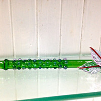 ONE OF A KIND Bird of Paradise Purple and Green Peace Pipe