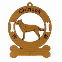 2130 Chinook Standing Ornament Personalized with Your Dog's Name
