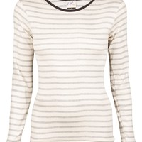 Grey Stripe Long Sleeve Tee