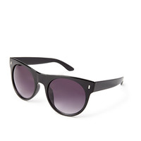 FOREVER 21 Modern Round Sunglasses Black/Grey One