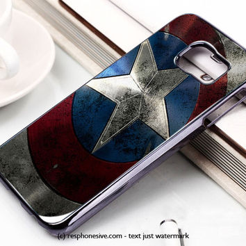 Captain America Logo The Avengers Samsung Galaxy S6 and S6 Edge Case