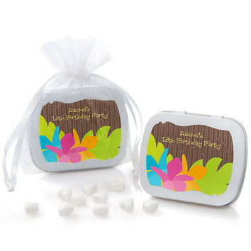 Luau - Personalized Birthday Party Mint Tin Favors