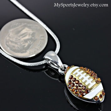 Football Rhinestone Necklace