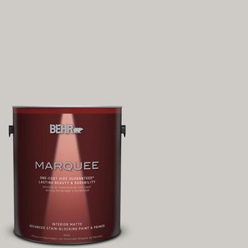 BEHR MARQUEE 1 gal. #PPU26-10 Chic Gray Matte Interior Paint-145001 - The Home Depot