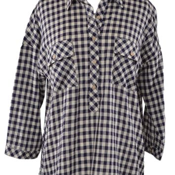 Checked Out Shirt - Navy