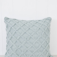 Cathedral Knit Throw Pillow - Blue