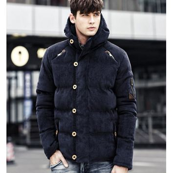 Sports Jacket Men Leisure Outdoor Camping Traveling Special Corduroy Sportswear Thickening Cotton Clothing Winter Coat Outerwear