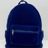 Daisy Street Velvet Backpack at asos.com