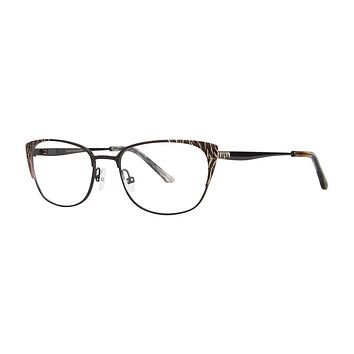 Dana Buchman - Glennora 52mm Black Gold Eyeglasses / Demo Lenses