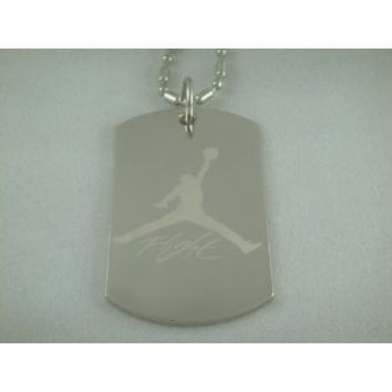 Michael Air Jordan Jumpman Logo Dog Tag Necklace