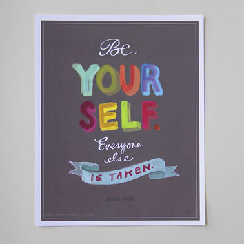 """""""Be Yourself"""" Print: 8 x 10"""