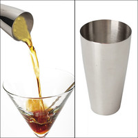 New Stainless Steel Shake Mixing Cup Flair Bartending Cocktail Shaker Drink Mixer