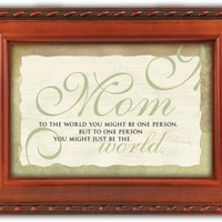 Mom Mother You are the World Musical Music Jewelry Box Plays Wind Beneath My Wings
