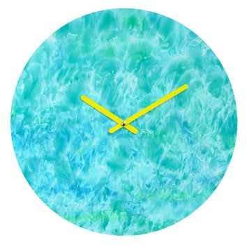 Rosie Brown Sparkling Sea Round Clock