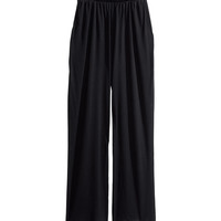 H&M - Wide-leg Pants - Black - Ladies