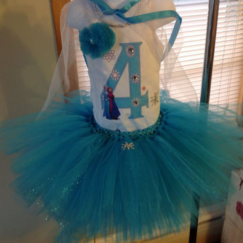Frozen elsa queen tutu personalized set, birthday outfit, 3pc set