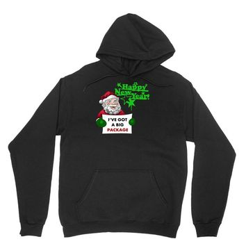 heapy new year funny santa claus christmas Unisex Hoodie