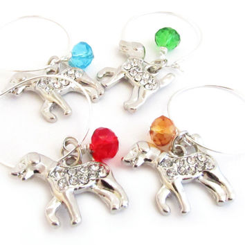 Wine Glass Charms for the Dog Lover