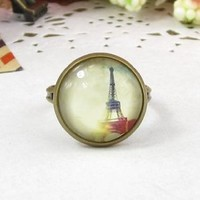 Amazon.com: Classic Color Ring Strongly Individualizes Eiffel Tower Ring: Everything Else