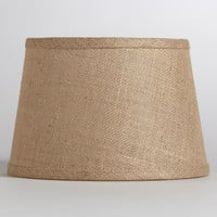 Natural Burlap Accent Lamp Shade - World Market