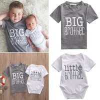 Brothers Matching Little Brother Baby Boy Romper and Big Brother T-shirt (Not A Set)