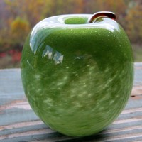 Handblown Glass Pipe Apple - Made to Order