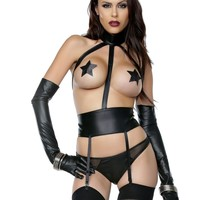 Craze Garter Belt And Panty Set