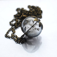 Dandelion Necklace Real Dandelion Seeds by NaturalPrettyThings