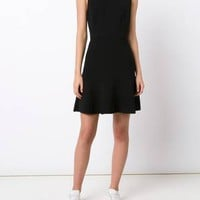 Theory Panelled Flared Dress - Farfetch