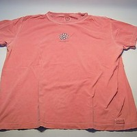 Vintage Life Is Good Casual T-shirt Women's Size Xl