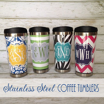 Personalized Stainless Steel Travel Mug With Insert by rrpage