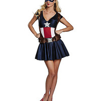 Captain America Adult Womens Costume - Spirithalloween.com
