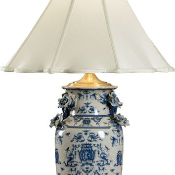 Blue White With Dragons Lamp