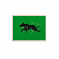 "BarmalisiRTB ""Black Dog"" Green Animal KESS Naturals Canvas (Frame not Included)"