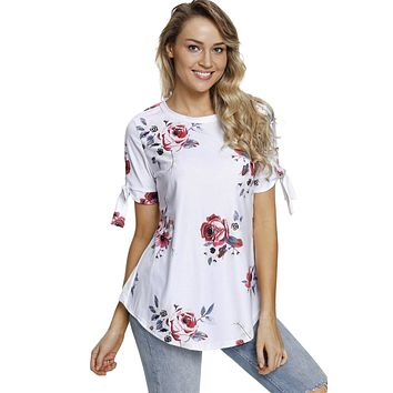 Bow Tied Floral Tee