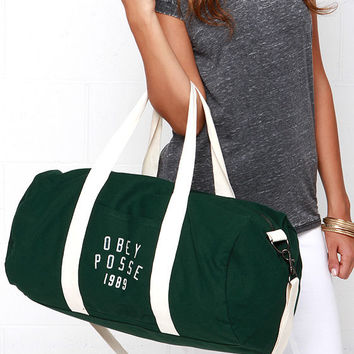 Obey Kenyon Forest Green Duffle Bag from Lulu s  cdebb94c13abd