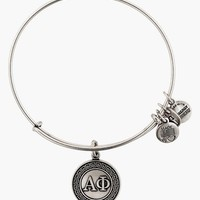 Women's Alex and Ani 'Collegiate - Alpha Phi' Expandable Charm Bangle - Russian