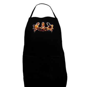 Fire Masquerade Mask Dark Adult Apron by TooLoud