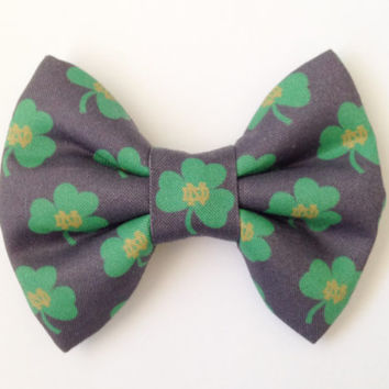 Notre Dame Fabric Bow (Handmade Bow / Bow Tie / or Headband)